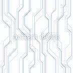 Lignes haute technologie monochromes Motif Vectoriel Sans Couture