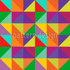 Triangle Check Seamless Vector Pattern Design