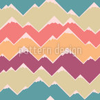 Zigzag Mountain Seamless Vector Pattern Design