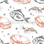水面下の動物 シームレスなベクトルパターン設計