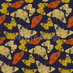 Butterflies By Night Seamless Vector Pattern Design