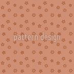 Monochrome Blumen Nahtloses Vektormuster