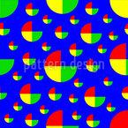 Bunte Kreissegmente Nahtloses Vektormuster