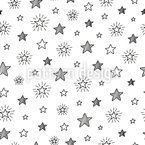 Cartoon Stars Seamless Vector Pattern Design