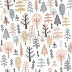 Scandinavian Tree Seamless Vector Pattern Design