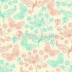 Fantasie-Blumen Und Schmetterlinge Nahtloses Vektormuster