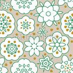 Florale Frische Nahtloses Vektormuster