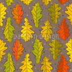 Eichenblätter Im Herbst Nahtloses Vektormuster