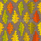 Oak Leaves In Autumn Seamless Vector Pattern Design