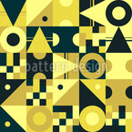 Shape Variety Seamless Vector Pattern Design