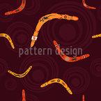 Bumerangs Und Kreise Nahtloses Vektormuster