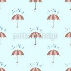Regentropfen Und Regenschirme Nahtloses Vektormuster