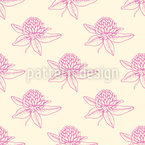 Clover Flowers Seamless Vector Pattern Design