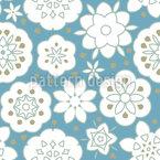 Frescura da flor Design de padrão vetorial sem costura