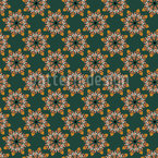 Mosaic Flowers Seamless Vector Pattern Design