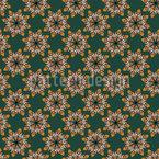 Mosaik-Blumen Nahtloses Vektormuster