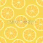 Classic Lemon Seamless Vector Pattern Design