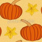 Pumpkin Festival Seamless Vector Pattern Design