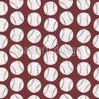 Baseball Doodle Nahtloses Vektormuster