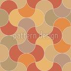 Autumn Mosaic Seamless Vector Pattern Design