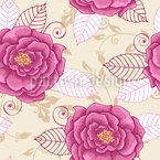 Natural Rose Dream Seamless Vector Pattern Design
