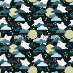 Spooky Ghosts Seamless Vector Pattern Design