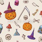 Halloween Dinge Nahtloses Vektormuster