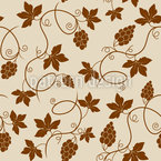 Vine Branches Seamless Vector Pattern Design