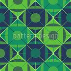 葡萄牙六十年代瓷砖 无缝矢量模式设计