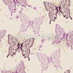 Künstlerische Schmetterlinge Nahtloses Vektormuster