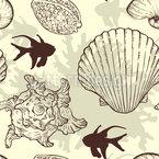 Entdecke das Meer Nahtloses Vektormuster