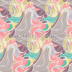 Entwining Lines Seamless Vector Pattern Design