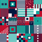Various Geometric Shapes Seamless Vector Pattern Design