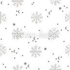 Schnee Im Winter Nahtloses Vektormuster