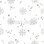Snow In Winter Seamless Vector Pattern Design
