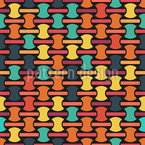 Abstract Shapes On Lines Seamless Vector Pattern Design