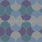 Cold Mosaic Seamless Vector Pattern Design