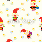 Santas Elves Pattern Design