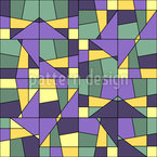 Geometry Mosaic Seamless Vector Pattern Design