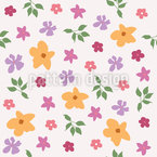 Petite Flowers Seamless Vector Pattern Design