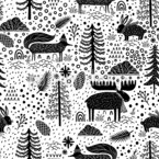 Winter Park Seamless Vector Pattern Design