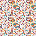 Colorful Abstract Leaves Seamless Vector Pattern Design