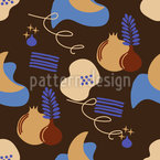 Abstract Stylish Night Sky Seamless Vector Pattern Design