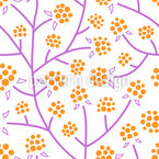 Cloudberry Thicket Seamless Vector Pattern Design