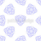 Floral Diamond Ornament Seamless Vector Pattern Design