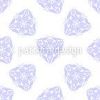 Florales Diamant-Ornament Nahtloses Vektormuster