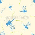 Abstract Dragonfly Seamless Vector Pattern Design