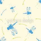 Abstrakte Libelle Nahtloses Vektormuster