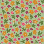 Hübsche Blumen Nahtloses Vektormuster