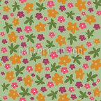 Pretty Flowers Seamless Vector Pattern Design